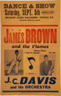 """Music Memorabilia:Posters, James Brown 1959 Amazingly Young """"Dance & Show"""" Boxing-Style Concert Poster...."""