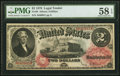 Large Size:Legal Tender Notes, Fr. 48 $2 1878 Legal Tender PMG Choice About Unc 58 EPQ.. ...