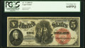 Large Size:Legal Tender Notes, Fr. 73 $5 1880 Legal Tender PCGS Very Choice New 64PPQ.. ...