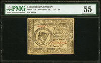 Continental Currency November 29, 1775 $8 PMG About Uncirculated 55