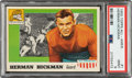 Football Cards:Singles (1950-1959), 1955 Topps Herman Hickman #1 PSA Mint 9 - None Higher....