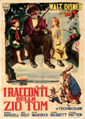 """Movie Posters:Animation, Song of the South (RKO, 1950). Folded, Fine+. First Release Italian 2 - Fogli (39"""" X 55"""").. ..."""