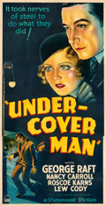 """Movie Posters:Crime, Under-Cover Man (Paramount, 1932). Fine/Very Fine on Linen. Three Sheet (41.5"""" X 80.25""""). From the Mike Kaplan Col..."""