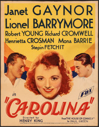 "Carolina (Fox, 1934). Fine+. Trimmed Window Card (14"" X 18""). Comedy"