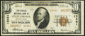 National Bank Notes:Pennsylvania, State College, PA - $10 1929 Ty. 2 The Peoples National Bank Ch. # 12261 Very Fine.. ...