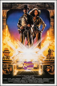 """Raiders of the Lost Ark (Paramount, R-1991). Rolled, Very Fine-. 10th Anniversary One Sheet (27"""" X 41"""") SS, St..."""
