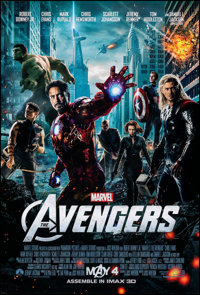 "The Avengers (Paramount, 2012). Rolled, Very Fine/Near Mint. One Sheet (27"" X 40"") DS, Advance. Science Fictio..."