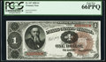 Fr. 347 $1 1890 Treasury Note PCGS Gem New 66PPQ