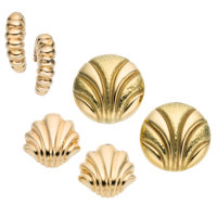 Gold Earrings ... (Total: 3 Items)