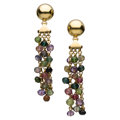 Estate Jewelry:Earrings, Multi-Stone, Gold Earrings, Le Gi . ...