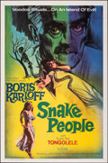 "Movie Posters:Horror, Snake People (Columbia, 1971). Folded, Very Fine+. One Sheet (27"" X 41""). Horror.. ..."