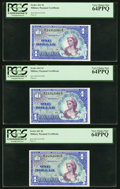 Series 661 $1 Three Examples PCGS Very Choice New 64PPQ. ... (Total: 3)