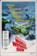 """Movie Posters:Documentary, World Without Sun (Columbia, 1964). Folded, Fine/Very Fine. One Sheet (27"""" X 41""""). Documentary.. ..."""