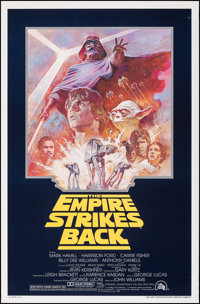 "The Empire Strikes Back (20th Century Fox, R-1981). Rolled, Very Fine. One Sheet (27"" X 41""). Science Fiction..."