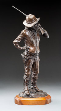 Jack Bryant (American, 1929-2012) Bounty Hunter Bronze with brown patina 22-1/2 inches (57.2 cm)