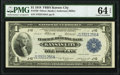 Fr. 738 $1 1918 Federal Reserve Bank Note PMG Choice Uncirculated 64 EPQ