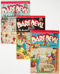 Daredevil Comics Group of 5 (Lev Gleason, 1948-53) Condition: Average VG.... (Total: 5)