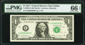Small Size:Federal Reserve Notes, Flipper 00990909 Fr. 3004-K $1 2017 Federal Reserve Note PMG Gem Uncirculated 66 EPQ.. ...