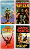 Books:Vintage Paperbacks, Assorted Edgar Rice Burroughs Paperbacks Box Lot (Various, 1960s-90s)....