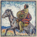 Works on Paper, Lon Megargee (American, 1883-1960). The Drum. Casein on tissue. 11 x 11 inches (27.9 x 27.9 cm) (image). Signed and titl...