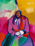 Paintings, John Nieto (American, b. 1936). Crazy Horse, 1986. Acrylic on canvas. 40 x 30 inches (101.6 x 76.2 cm). Signed lower rig...