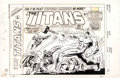 Original Comic Art:Covers, Ron Wilson and Frank Giacoia Titans #57 Cover Original Art (Marvel UK, 1976).. ...