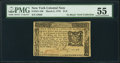 New York March 5, 1776 $1/6 PMG About Uncirculated 55