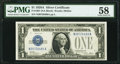 Small Size:Silver Certificates, Fr. 1601 $1 1928A Silver Certificate. PMG Choice About Unc 58.. ...