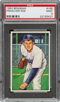 Baseball Cards:Singles (1950-1959), 1952 Bowman Preacher Roe #168 PSA Mint 9 - Only One Higher....