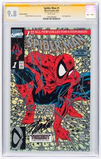 Spider-Man #1 Platinum Edition - Signature Series: Stan Lee (Marvel, 1990) CGC NM/MT 9.8 White pages