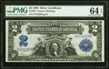 Fr. 252 $2 1899 Silver Certificate PMG Choice Uncirculated 64 EPQ