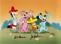 "Animation Art:Limited Edition Cel, ""Parade"" Huckleberry Hound and Friends Limited Edition Signed Animation Cel AP 6/20 (Hanna-Barbera, 1989).. ..."