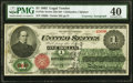 Large Size:Legal Tender Notes, James Gilfillan Courtesy Autographed Fr. 16c $1 1862 Legal Tender PMG Extremely Fine 40.. ...
