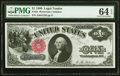 Large Size:Legal Tender Notes, Fr. 34 $1 1880 Legal Tender PMG Choice Uncirculated 64 EPQ.. ...