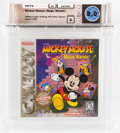 Video Games:Nintendo, Mickey Mouse: Magic Wands! [Player's Choice, No Prior Release] Wata 8.0 A Sealed GB Nintendo 1998 USA....