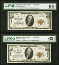Rahway, NJ - $10 1929 Ty. 2, Two Consecutive Examples The Rahway National Bank Ch. # 5260 PMG Graded Ch... (Total: 2)