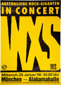 "Music Memorabilia:Posters, INXS 23"" x 33"" Listen Like Thieves Tour Munich Concert Poster (1986). ..."