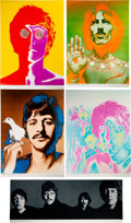 Music Memorabilia:Posters, The Beatles by Richard Avedon Original Poster Group Set of Five (1967). ... (Total: 5 Items)