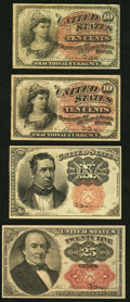 Fractional Currency:Fourth Issue, Fr. 1258 10¢ Fourth Issue Fine-Very Fine;. Fr. 1261 10¢ Fourth Issue Fine-Very Fine;. Fr. 1266 10¢ Fifth Issue About N... (Total: 4 notes)
