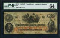 T41 $100 1862 PF-15 Cr. 316 PMG Choice Uncirculated 64