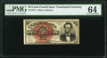 Fractional Currency:Fourth Issue, Fr. 1374 50¢ Fourth Issue Lincoln PMG Choice Uncirculated 64.. ...