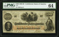 T41 $100 1862 PF-7 Cr. 317 PMG Choice Uncirculated 64