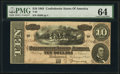 Confederate Notes:1864 Issues, T68 $10 1864 PF-6 Cr. 507 PMG Choice Uncirculated 64.. ...