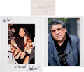 Movie/TV Memorabilia:Autographs and Signed Items, The Sopranos Select Cast Signed Items (3)....