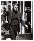 """Movie/TV Memorabilia:Autographs and Signed Items, Steve McQueen Signed 8"""" x 10"""" Black and White Promo Photo...."""