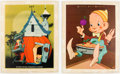 """Memorabilia:Miscellaneous, Vernon Grant - """"Picture Set No. 1"""" Complete Set of 6 Kellogg's Mail-Away Prints, and Sterling Salt Standee Group of 7 (Kellogg... (Total: 7 Items)"""
