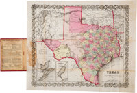 [Map]. 1857 J. H. Colton Pocket Map of Texas