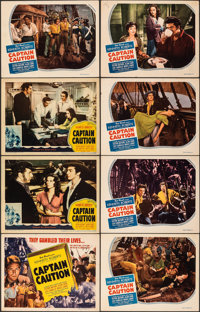 Captain Caution (United Artists/Favorite Films, 1940/R-1946). Fine/Very Fine. Lobby Cards (7) & Title Lobby Card (11...