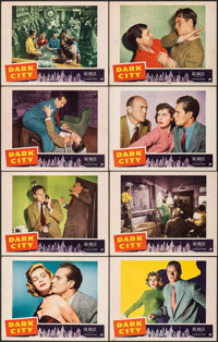 "Dark City (Paramount, 1950). Very Fine-. Lobby Card Set of 8 (11"" X 14""). Crime. ... (Total: 8 Items)"