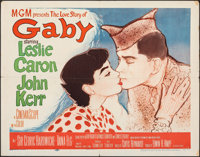 "Gaby & Other Lot (MGM, 1956). Folded, Fine/Very Fine. Half Sheets (2) (22"" X 28"") Colonia Artwork. Drama..."